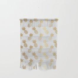 Gold Pineapple Pattern Wall Hanging