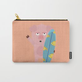 Surfin Pig with Surfboard Bahqt Carry-All Pouch