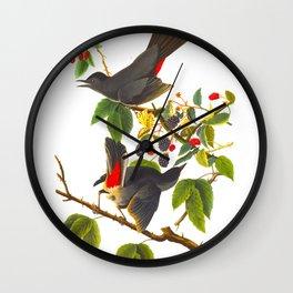 Catbird Vintage Illustration Wall Clock