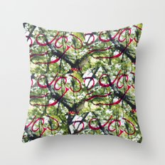 Happy Green Throw Pillow