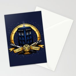Tardis Nouveau Stationery Cards