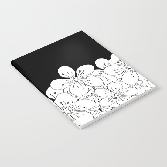 Cherry Blossom Boarder Notebook