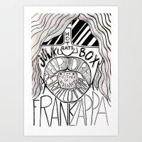 zappa Art Prints featuring Frank Zappa by JeanMar