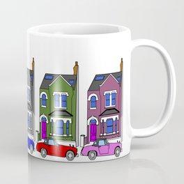 My own Notting Hill / A Victorian House & Retro car Coffee Mug