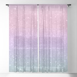 Unicorn Princess Glitter #1 #pastel #decor #art #society6 Sheer Curtain