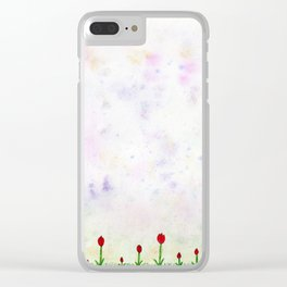 Tiny Tulips Clear iPhone Case
