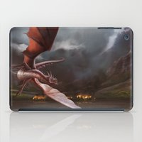 smaug iPad Cases featuring Smaug Burns Lake-Town by Andy Fairhurst Art