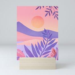 South Seas Sunrise / Tropical Landscape Mini Art Print