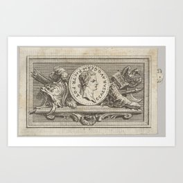 Medal with Portrait of Caligula in the 6th Book, from Tibère ou les six premiers livres es Annales d Art Print
