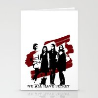 pretty little liars Stationery Cards featuring Pretty Little Liars by Rose's Creation