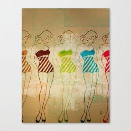 Retro Swimsuit Canvas Print