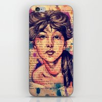 agnes cecile iPhone & iPod Skins featuring Agnes Mackenzie by Olga Noes