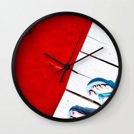 Rad Red Lagoon Wall Clock