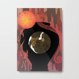 """Art Deco Design """"Autumn Song"""" by Erté Metal Print"""