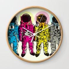 CMYK Spacemen Wall Clock