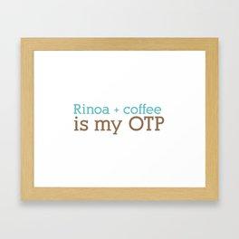 Rinoa + Coffee = OTP Framed Art Print