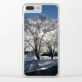 Sunshine in winter Clear iPhone Case