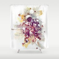 physics Shower Curtains featuring Summer Nights by Travis Clarke