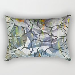 Abstract Flower Pattern Rectangular Pillow