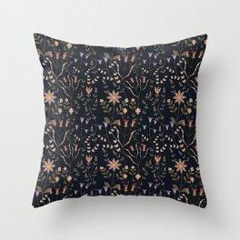 Dakota Prairies: Florals Throw Pillow