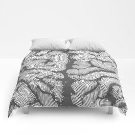 Brain vintage illustration Comforters