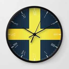 Flag of Saint David Of Wales Wall Clock