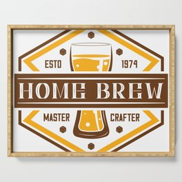 D20 Home Brew Content Creator Beer Label Serving Tray