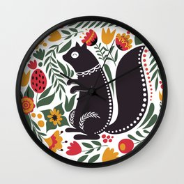 Squirrelium Wall Clock