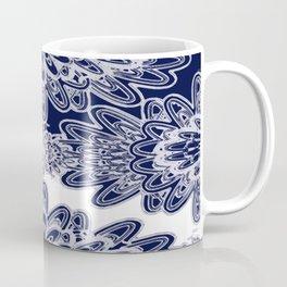 Blue Floral Damask Coffee Mug