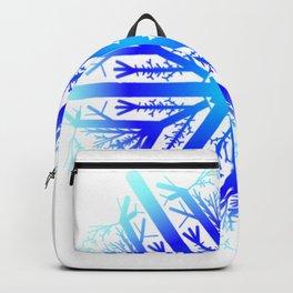 Blue Snowflake Design Backpack