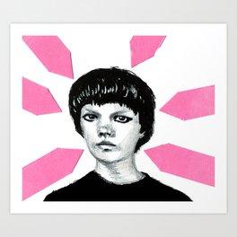 Planner Addict a portrait. Art Print