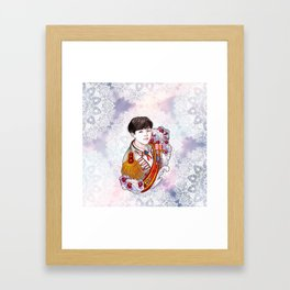 BST Suga Kings of KPOP, Love Yourself, Boy With Luv Framed Art Print