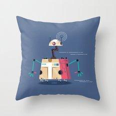:::Mini Robot-Vrahion::: Throw Pillow