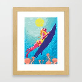 The Dive Framed Art Print