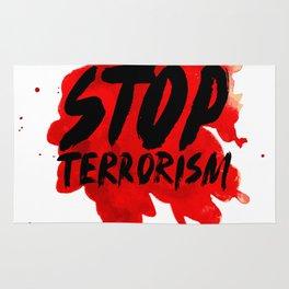 Stop terrorism Rug