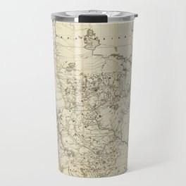 Territory of Minnesota Map (1849) Travel Mug