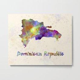 Dominican Republic in watercolor Metal Print