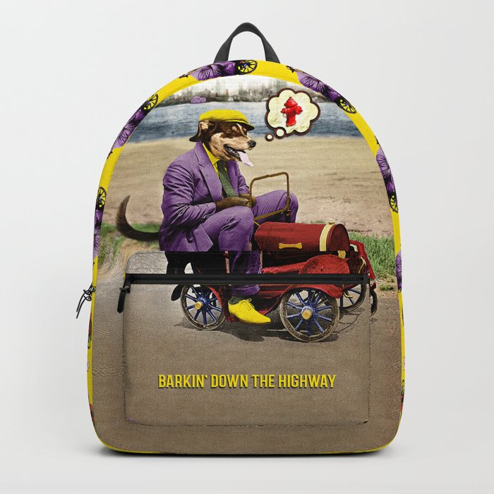 Barkin' Down the Highway! Backpack