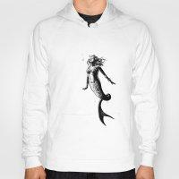 mermaid Hoodies featuring Mermaid by Derek Stewart