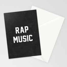 Rap Music Stationery Cards