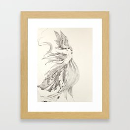 Fin and Feather Gown Framed Art Print