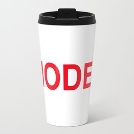 MODEL in red letters Travel Mug
