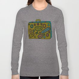 Let's Travel Retro Suitecase Long Sleeve T-shirt