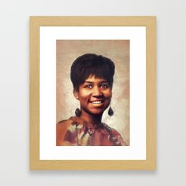Aretha Franklin, Music Legend Framed Art Print