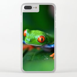 Little Tree Frog (Color) Clear iPhone Case