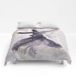 whirling dervish - sufi meditation - ink wash Comforters