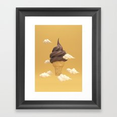 Big Ice Cream Framed Art Print