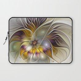 Abstract Fantasy Flower Fractal Art Laptop Sleeve