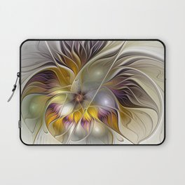 Abstract Fantasy Flower Fractal Art Laptop Sleeve