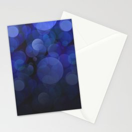 Blue Circles abstract design Stationery Cards